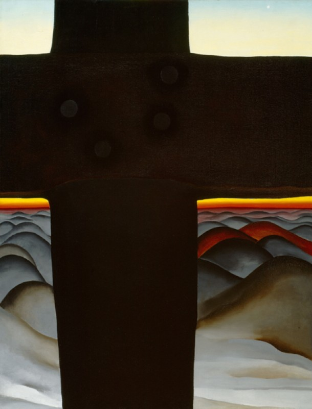 Georgia O'Keeffe – Black Cross New Mexico - wf16977