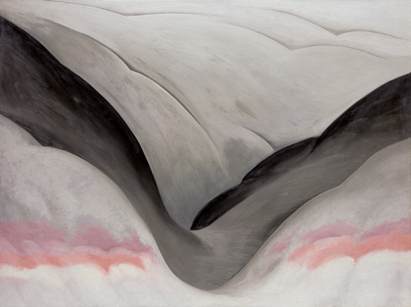 Georgia O'Keeffe – Black Place Grey and Pink - wf16971