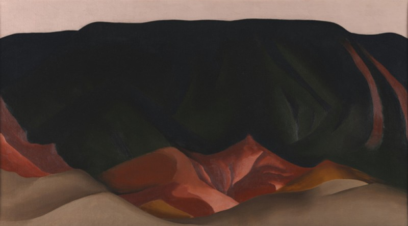 Georgia O'Keeffe – Dark Mesa with Pink Sky - wf16980