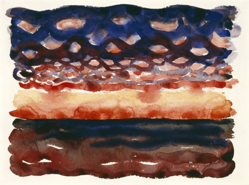 Georgia O'Keeffe – Sunrise and Little Clouds - wf16984